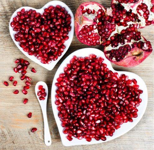 pomagranate seeds heart disease